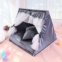 Pet Triangle Tent Teddy Small and Medium-sized Dogs Summer Indoor Dog House Dog House Cat House Washable Pet House