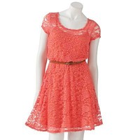 Lily Rose Lace Fit and Flare Dress - Juniors