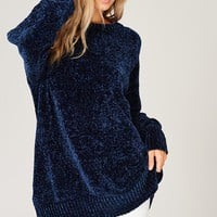 Velvet Yarn Knit Sweater