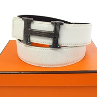 Authentic HERMES H Touareg Buckle Constance Reversible Belt Veau Epsom A35805c