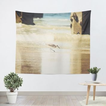 Walking on the Beach Tapestry
