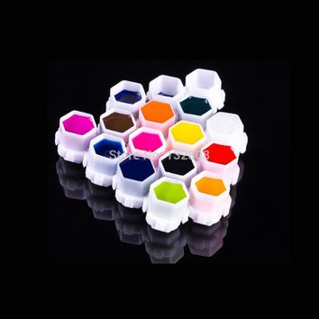 Newest Hive Tattoo Ink Cups 200pcs/bag  Permanent Makeup Pigment Cup Caps With Stand Tattoo Accessories Free Shipping