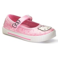 Hello Kitty Dotty Toddler Girls' Sequin Mary Jane Sneakers (Pink)