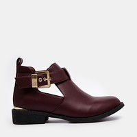 River Island Red Jennie Cut Out Boots at asos.com