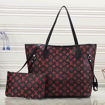 LV Louis Vuitton new product full-printed two-piece shoulder bag shopping bag