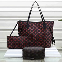 Louis Vuitton LV Fashion Handbag Satchel  Crossbody Clutch Bag Set Three piece
