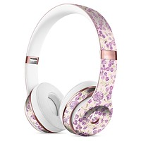 Grungy Violet Wildflower Pattern Full-Body Skin Kit for the Beats by Dre Solo 3 Wireless Headphones