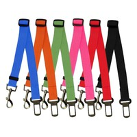 6 Colors Cat Dog Car Safety Seat Belt Harness Adjustable Pet Puppy Pup Hound Vehicle Seatbelt Lead Leash for Dogs