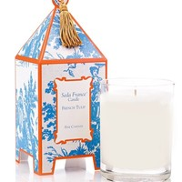 French Tulip Classic Toile Pagoda Box Candle