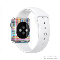 The Neon Faded Rainbow Plaid Full-Body Skin Kit for the Apple Watch