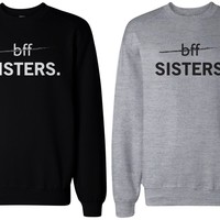 Matching BFF Black and Grey Sweatshirts for Best Friends - BFF Sisters