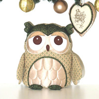 Xmas Decoration, Owl Pillow,  Decorative Throw Cushion