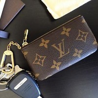 LV Louis Vuitton New fashion classic chessboard chain key case wallet
