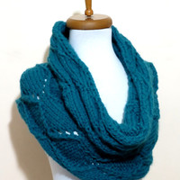 Cowl Neck Warmer / Blue / Hand Knit,Colorfull infinity neck warmer..Cozy scarves,cozy knit,capelet,for her,gifts,winter accessories,