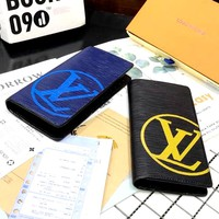 Free Shipping-LV Retro Multifunction Long Wallet Card Holder