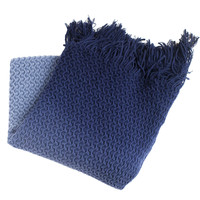 Diane Navy Knitted Throw