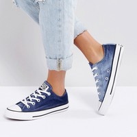 Converse Chuck Taylor Ox Trainers In Navy Velvet at asos.com