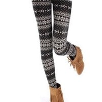*Free Shipping* Wave Snow Pattern Leggings QNSD-15 from clothingloves