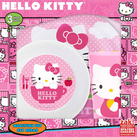 Hello Kitty 3 Piece Kids Mealtime Set. Cup, Bowl, Plate