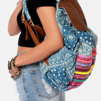 Billabong Mixin Daze Denim Print Backpack