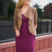 Leather Love Jacket, Brown