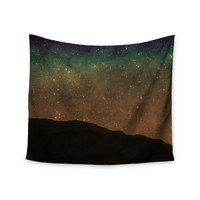 "Sylvia Coomes ""Star Light"" Teal Brown Wall Tapestry"