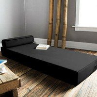 Simple Modern 76 x 30 inch Day Bed Mattress Floor Cushion with Bolster Pillow