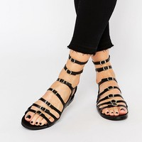 Pull&Bear Multi Strap Buckle Sandals at asos.com