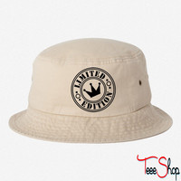 limited edition crown bucket hat