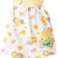 BON BEBE Baby-Girls Newborn Flowers Sleeveless Sundress