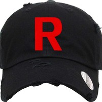 TEAM ROCKET Distressed Baseball Hat