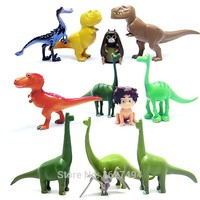 Arlo Spot The Good Dinosaur 12pcs/lot Miniatures Anime PVC Action Figures 2015 Dinosaurs Figurines Kids Toys for Boys Girls