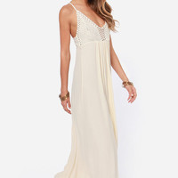 Hippie Hippie Chic Cream Maxi Dress
