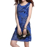 MapleClan Bling Bling Sequins Embroidered Dress