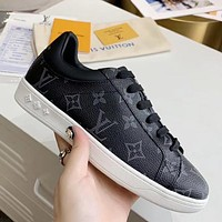 LV vintage canvas old flower logo low-top sneakers shoes
