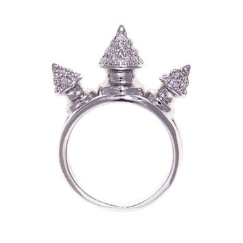 nOir Jewelry - Rings - Honey 3 Spike Pave Ring