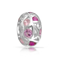 Bling Jewelry Pink Deco Art Charm