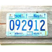 Wedding Photo Prop, Save the Date Sign, Custom Date Sign, License Plate Decor, Rustic Reclaimed Art, Special Date Decor,MN License Plate Art