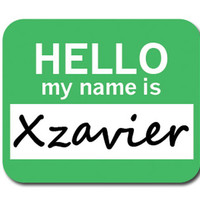 Xzavier Hello My Name Is Mouse Pad