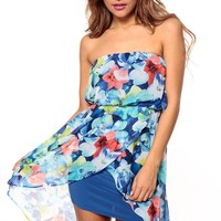 Water Color Orchid Strapless Tulip Dress @ Cicihot sexy dresses,sexy dress,prom dress,summer dress,spring dress,prom gowns,teens dresses,sexy party wear,ball dresses