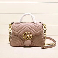 Best Gifts GUCCI Women Fashion Leather Tote Crossbody Shoulder Bag Satchel