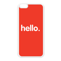 Hello White Silicon Rubber Case for iPhone 6 Plus by textGuy