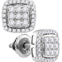 1-2CT-Diamond FASHION EARRINGS