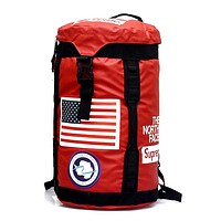 Supreme X TheNorthFace Fashion Casual Simple Backpack Travel Bag