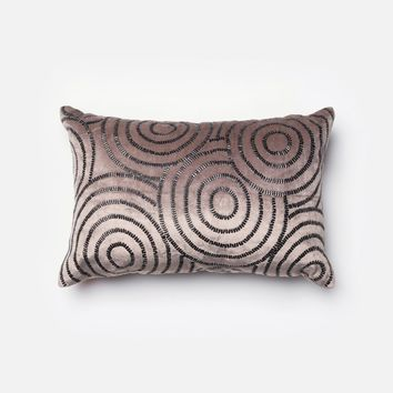 Loloi Charcoal / Black Decorative Throw Pillow (P0110)