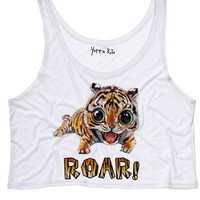 "Baby Tiger ""Roar"" Crop Tank Top"
