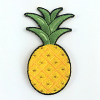Pineapple Embroidered Patch / Iron-On Applique