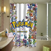 Pokemon together Shower Curtain