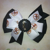 Hunger Games inspired Pinwheel layered bow -  4 inches - Made to Order