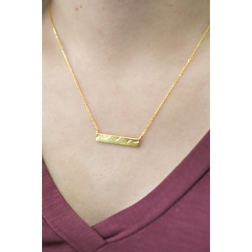 The Mountains Are Calling Necklace - Gold